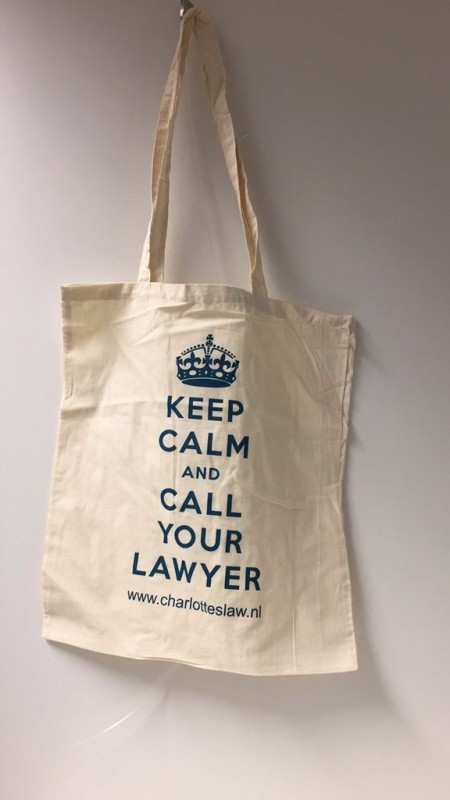 Keep Calm and Call Your Lawyer katoenen tas